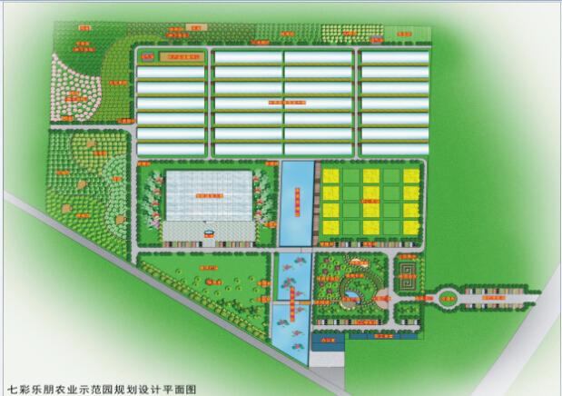 山东济阳七彩乐朋农业示范园概念性规划设计
